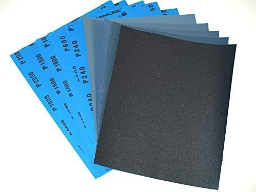 Sandpaper,120 to 3000 Grit Wet Dry Sandpaper 9 3.6 Inches for Automotive Sanding Wood Turing Finishing HuMble CeRAMicS Wood Furniture Finishing