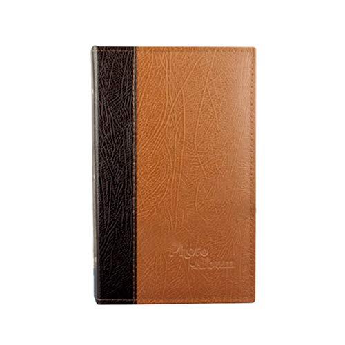 Shizhongminghe-FR Fotoalbum, 6 Zoll, 240 Fotoalbum, Retroalbum, Leder, Polypropylen, zum Einfügen eines Buchs, für Fotos, professionell, nostalgisch, Hellbraun