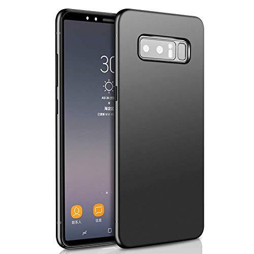 Tarkan Royal Slim Flexible Soft Back Case Cover for Samsung Galaxy Note 8 [Matte Black] 360 Degree Coverage