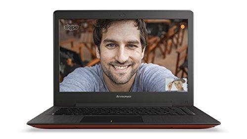 Lenovo U31-70 33,8 cm (13,3 Zoll Full HD IPS Matt) Ultrabook (Intel Core i7-5500U, 3GHz, 8GB RAM, 256GB SSD, NVIDIA GeForce 920M 2GB, Windows 8.1) rot