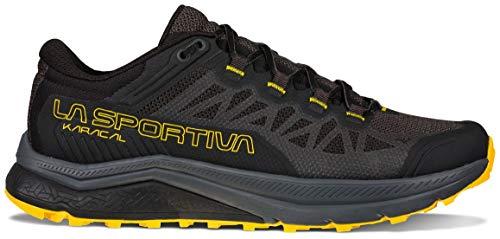 La Sportiva Mens Karacal Trail Running Shoe, Black/Yellow,...