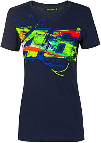 Valentino Rossi Collezione VR46 Classic T-Shirt Femme, Bleu, M