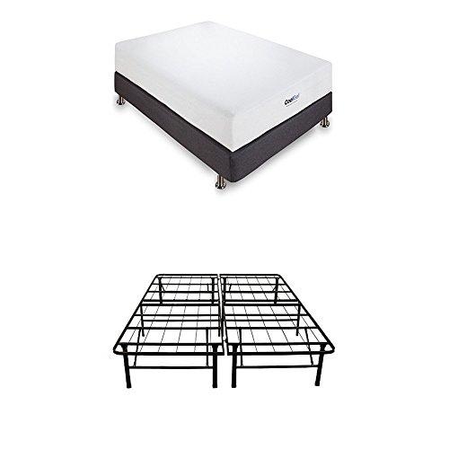 Classic Brands Cool Gel Ventilated Gel Memory Foam 8Inch Mattress amp 14Inch Platform Bed Frame | Queen