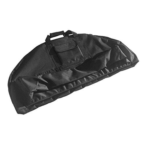 SGerste Ligero portátil al Aire Libre Caza Arco Lienzo Compound Bow Bolsa de protección Negro 115 x 45 x 4 cm