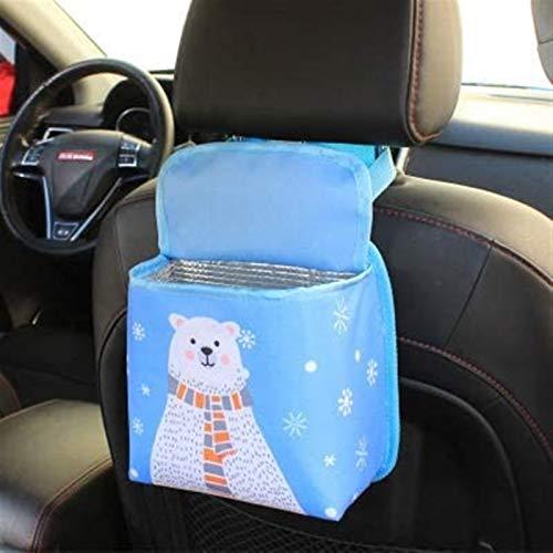 Kun yi Bolsa de almacenamiento de backsat de cochecito de dibujos animados para niños para niños Multifunción Auto Botas de basura Bolsas de basura Bolsas de basura Organizadores de botellas de agua e