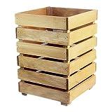 Cubo De Basura Cubo de Basura para Exterior Basura de madera creativa puede...