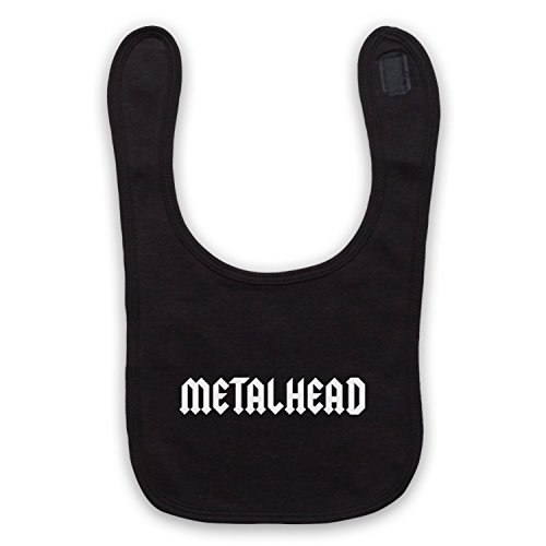 Metalhead Heavy Metal - Babero negro Negro