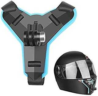 Action Pro Helmet Chin Mount Adapter with Extension Holder Motorcycle Helmet Compatible with GoPro Hero 2018/7/6/5/4/3, Session, SJCAM, AKASO, Campark, Polaroid, YI Action Camera