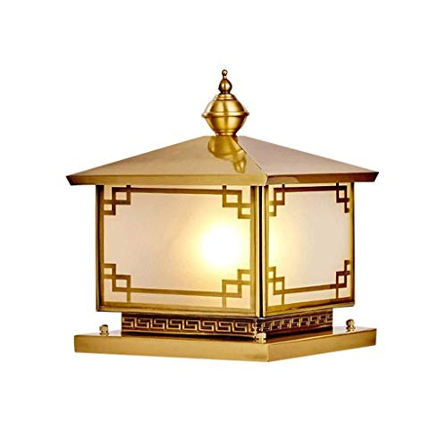 SPNEC Prairie Mission Antique Accent Table Lamp Bronze Iron Column Amber Stained Glass for Living Room Family Bedroom Office