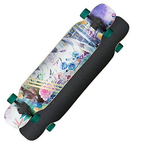 44inch Adults Pro Longboard Standard Skateboards Komplette Girls Dancing Concave Deck Cruiser Double Kick Skateboarding für Teenager Hochwertiges Geburtstagsgeschenk