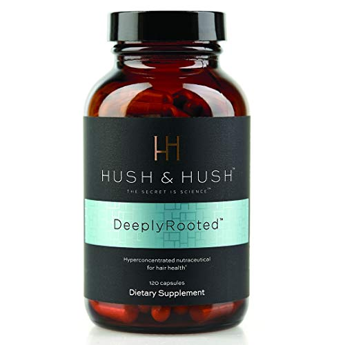 DeeplyRooted Hair Growth Supplement- Hair Health Nutraceutical | Promotes Hair Growth | Biotin + Ashwagandha + Saw Palmetto | 120 capsules