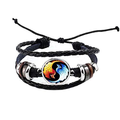 Ni36uo0qitian0ozaap Caliente moda hielo fuego pájaro Yin Yang brazalete pulsera de cristal Taiji en forma de Gossipy pulsera, TAP172