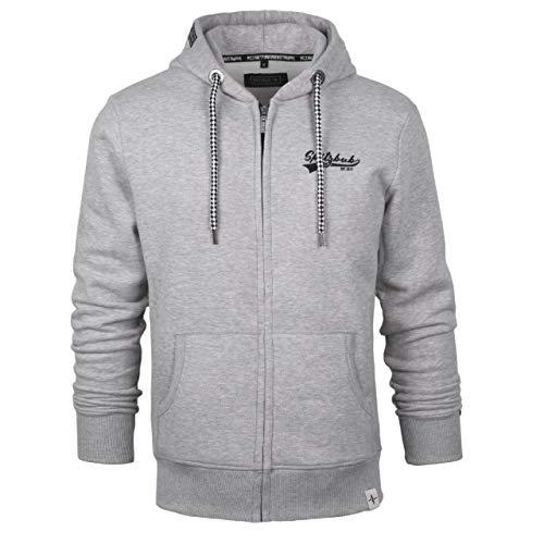 Spitzbub Herren Hoodie Pullover mit Kapuze Sweatjacke Zipper Kapuzenpullover mit Reißverschluss Kai