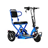 GKMM Portable Leisure Mobility Scooter, Foldable Electric Mobility Scooters for Adults, Elderly, and Disabled, Easy to Fold Up, 30 to 55km, 120kg Max Load