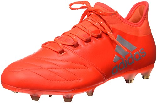 adidas Unisex-Erwachsene X 16.2 FG Leather S79544 Fußballschuhe, Multicolore (Solred/Silvmt/Hirere), 46 EU