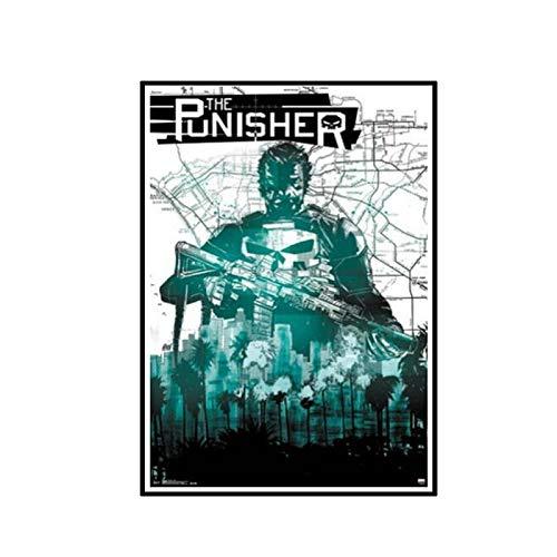 ADNHWAN Punisher-Mappa Comic Wall Art Poster Lienzo Pintura decoración del hogar imágenes Impresas en lienzo-50x70cm sin Marco 1 Uds