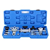 【18 Pcs】Wheel Bearing Disassembly Tool Kit, Automobile Sliding Hammer Dent Puller Oil Seal Bearing Remover Wheel Hub Bearing Removal Tool