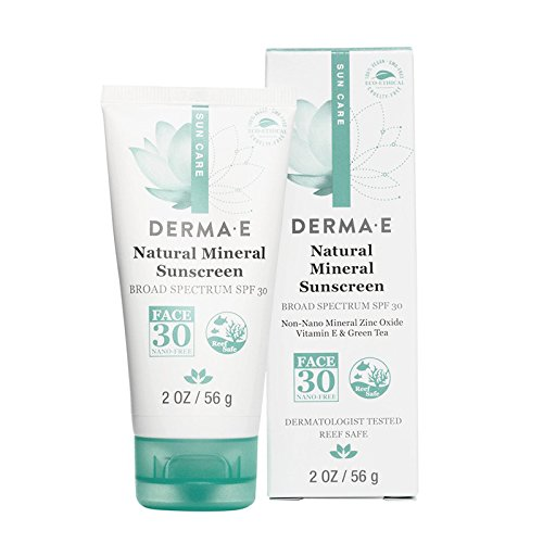 DERMA E Sun Defense Mineral Oil-Free Face Sunscreen, 2 oz