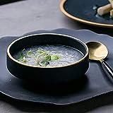 YAeele Los Platos de cerámica Creativa vajilla de Estilo Europeo Phnom arroz de Alta Tazón Salsa Salsa del Plato del Plato Pot Plato (Tamaño: 11.5 * 4 cm)
