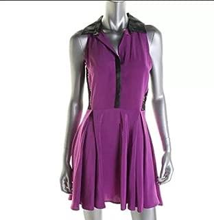 Madison Marcus Purple and Black Dress