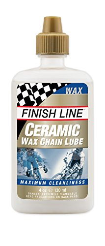 Finish Line Ceramic WAX Bicycle Chain Lube, 4-Ounce Drip Squeeze Bottle