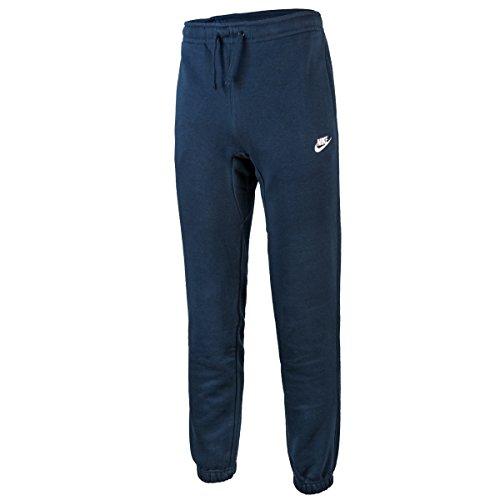Nike 804406 - Pantaloni lunghi da uomo per allenamento, Blu Ossidiana/Bianco, S