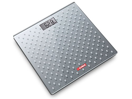 GIMA 27249 Vetro Digitale Bilancia, Grigia, 300 mm L x 300 mm W x 19 mm H, Grigio