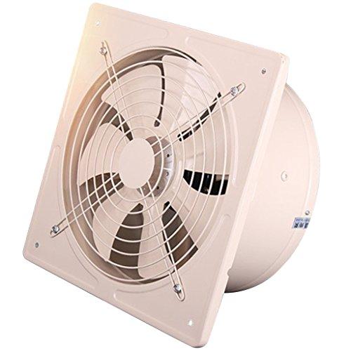 D DOLITY Extractor Silencioso Industrial de Alta Eficiencia Ventilador de Escape Soplador de Flujo de Aire de 8 Pulgadas - Blanco