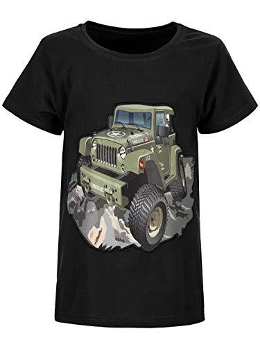 BEZLIT Jungen-Shirt Kinder T-Shirt LED Licht Bluse Kurz-Arm Shirts Short Sleeve 30028 Schwarz 134