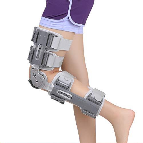 LXT PANDA ROM Kniebandage, Komfort nach der Operation ROM Kniebandage mit Gurt, nach der OP-Operation Patella Injury Immobiliser Support - Einstellbarer Stabilisator für das gesamte Bein bei Kreuz