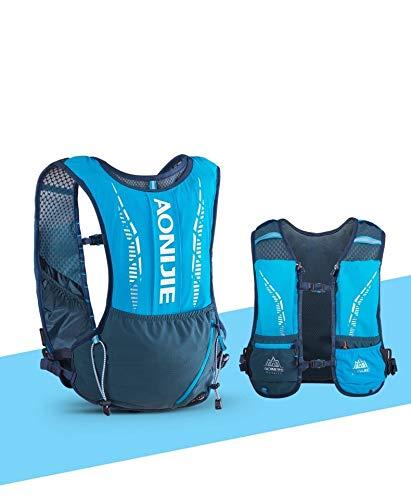 AONIJIE Mochila de hidratación, 5 L, perfecta para senderismo, bicicleta, escalada, color azul