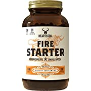 Heart & Soil Firestarter Supplement — High Stearic Acid Grass Fed Tallow from Suet to Support Healthy Weight, Energy, and Exercise Performance (180 Capsules)