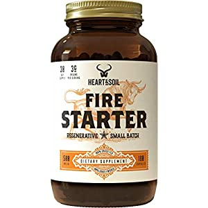 Health Shopping Heart & Soil Firestarter Supplement — High Stearic Acid Grass Fed Tallow from Suet to Support Healthy Weight, Energy…