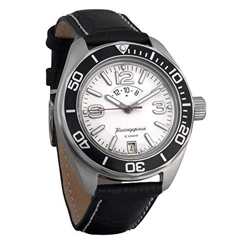 Vostok Komandirskie Reloj de pulsera militar ruso automático WR 200m #02-65 caso
