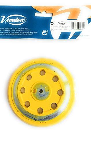 VIRUTEX 8445598 8445598-Plato rotorbital D.125 mm Base Velcro embalado, Negro