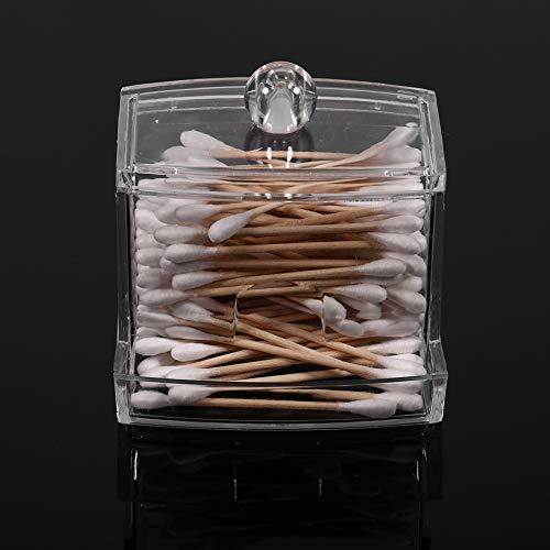 AUNMAS Coton-Tige Q-Tip Boîte Maquillage Organisateur De Stockage Cosmétique Transparent Distributeur en Plastique Cartouche Transparent Titulaire Cas pour La Maison
