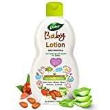 Dabur Baby Lotion: pH 5.5 balanced for Baby's Sensitive Skin with No Harmful Chemicals |Contains Aloe Vera , Licorice & Almonds |Hypoallergenic & Dermatologically Tested with No Paraben & Phthalates - 200 ml