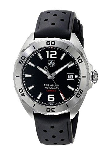 TAG Heuer Men 's Reloj automático con Esfera analógica de Color Negro de Goma WAZ2113. FT8023