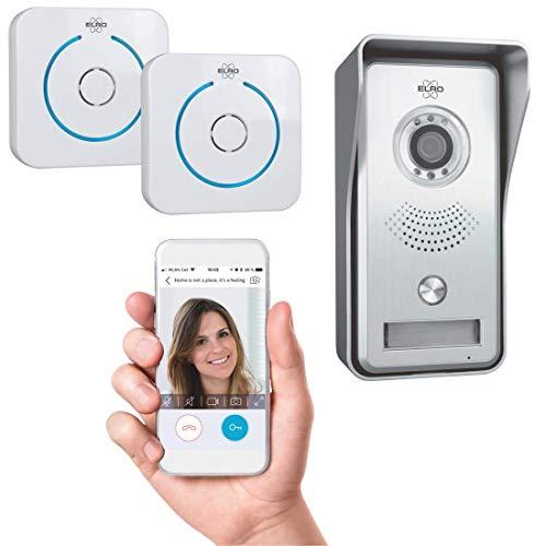 ELRO IP Video Türklingel DVC040IP2 - Kamera mit Nachtsicht - mit 2 Türgong - Kommunikation mit Live Video über App - Grau