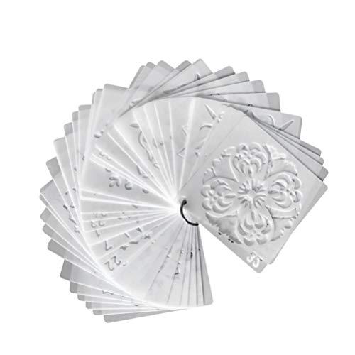 EXCEART 36 Piezas de Plantillas de Mandala Plantillas de Mandala Plantilla de Dibujo de Mandala Plantillas de Pintura de Mandala Plantillas Huecas Plantillas de Pulverización de Mandala