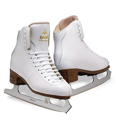 Jackson js1991Classique Schnittmuster Schlittschuhe weiß Entry Level Eiskunstlauf, weiß