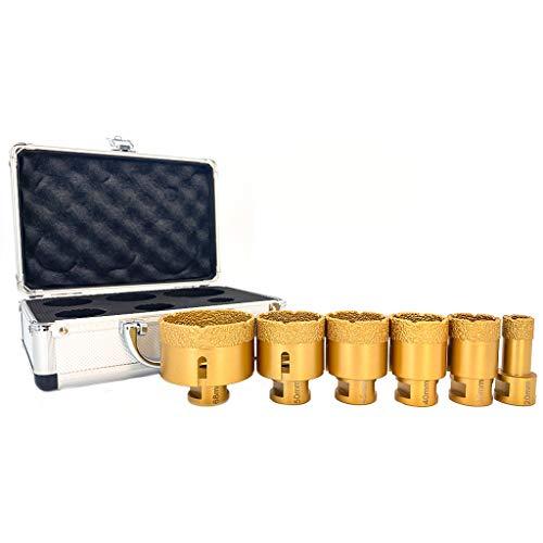 Juego de brocas de diamante M14 20/35/40/45/50/68 mm para porcelana, baldosas, granito, mármol, azulejos, taladrar