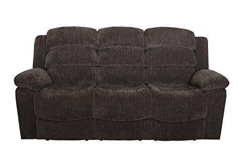 New Classic Austin Full Power Dual Recliner Sofa with Power Headrest, Stone