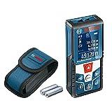 Bosch Professional Medidor láser de distancia GLM 50 C, transmisión de datos Bluetooth, sensor de inclinación de 360 de grade, distancia hasta 50 m, 2 pilas de 1.5 V, funda