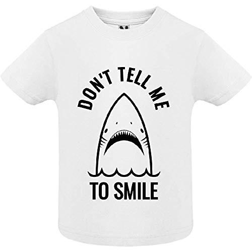 T-Shirt - Don t Tell me to Smile - Bébé Garçon - Blanc - 2ans