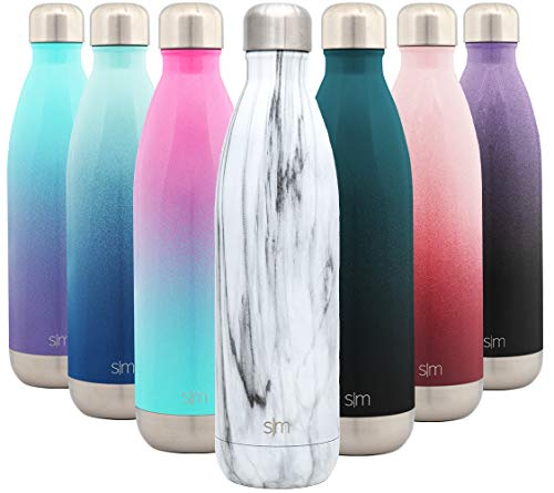 Simple Modern 750 mL (25oz) Wave Trinkflasche - Wasserflasche Thermosflasche Thermoskanne für Sport, Isolierflasche Vakuumisoliert- Doppelwandig- Edelstahl - Geschenke für Kinder, Frauen, und Männer