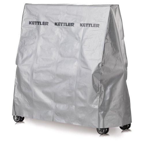Kettler Abdeckhaube Tischtennisplatte - Outdoor Abdeckung Tischtennis aus Synthetik-Gewebe - qualitativ hochwertige, wetterfeste Schutzhülle - silbergrau