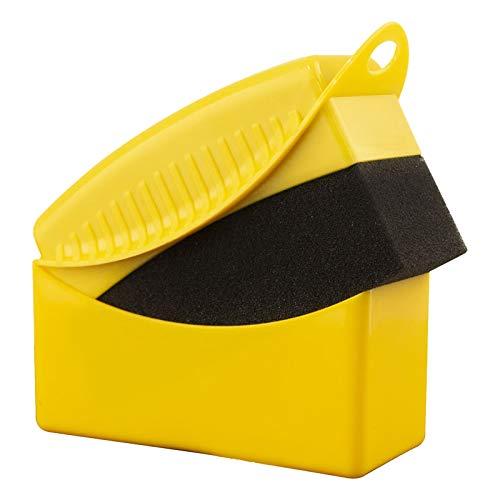 LQKYWNA Cepillo De Esponja para Neumáticos De Coche, Cepillo De Limpieza De Esponja con Tapa para Pulir Y Encerar Esquinas De Tapicería