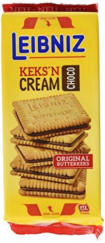 Leibniz Keks'n Cream im 7er Pack — Butterkekse mit Schoko-Creme Füllung — Schoko-Kekse wiederverschließbar — Doppel-Schokoladenkekse (7 x 228 g)