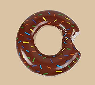 Loopy 浮き輪 ドーナツ フロート インスタ映え 快速エアバルブ 海遊び 水遊び プールパーティー 夏 用品 大人用浮き輪 子供用浮き輪 強い浮力 可愛い 海水浴 プール 海フロート (Color : Brown, Size : 120cm)